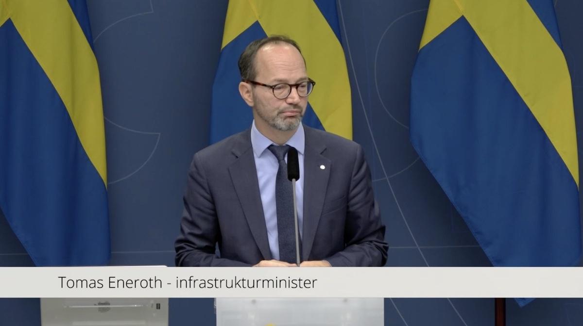 Tomas Eneroth Infrastrukturminister, Sverige